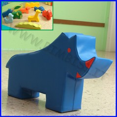 Morbidone rinoceronte 87x54x20 cm