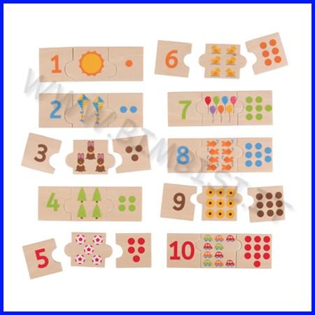 Domino dei numeri in legno