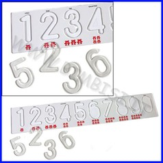 Banda dei numeri cm. 50x9