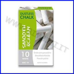 Gessi tondi antipolvere - conf.10 pz. - bianco