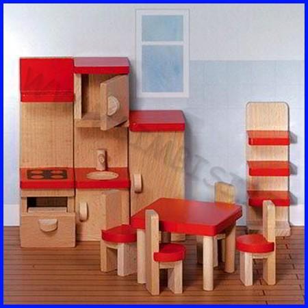 Casa delle bambole - sala da pranzo 9 pz