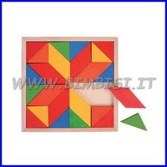 Puzzle Mosaico legno Mandala 24 pz