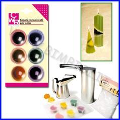 Ceracolor colori per cera 6 pastiglie colori assortiti
