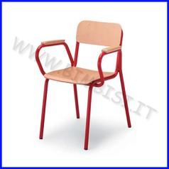 Sedia con braccioli faggio 40x40x46h conforme en 1729-1