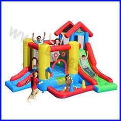 Castello gonfiabile happyhop 7 in 1 dim.cm 300x365x235