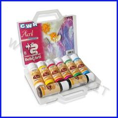 Colori acril milano 8 flaconi ml.70 in valigetta col. ass.fino ad esaurimento
