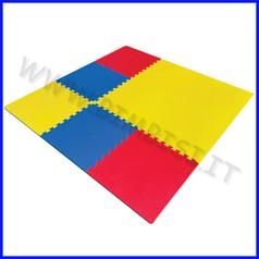 Mattonelle eva cm.100x100x1,5 set pz. 4 colori assortiti