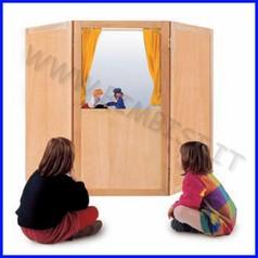Teatrino in legno 180x75x140h cm