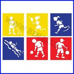 Stencil cm 14x15 6 pz sport