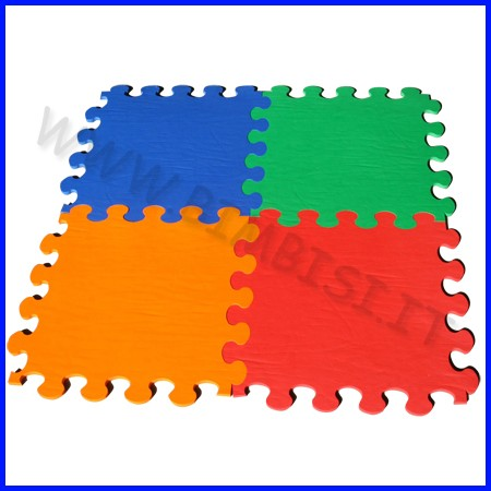 Pavimentazione antitrauma eva 50x50x08 kit 12 mattonelle senza bordi e angoli