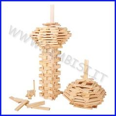 Costruzioni planks - set 200 pz. - colori naturali
