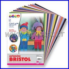 Cartoncini bristol cm.50x70 - pack 60 fg colori assortiti