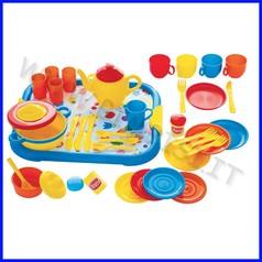 Stoviglie plastica servizio cena set 40 pezzi