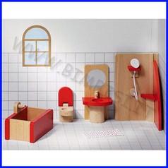 Casa delle bambole - bagno 5 pz