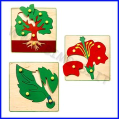 Puzzle montessoriani set 3 pz cm.20x20