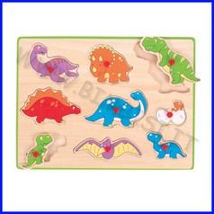 Puzzle con pomelli - dinosauri