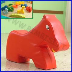 Morbidone cavallo 79x62x20 cm