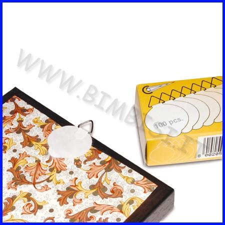 Attacchi adesivi per quadri conf.100 pz