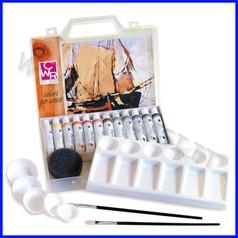 Colori a tempera valigetta 12 tubi+acces
