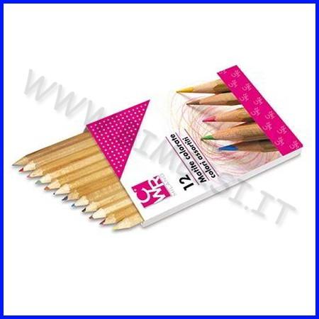 Matite colorate legno naturale scatola 12 pz col. ass.