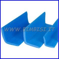 Profilo a L 80x80 sp. 20 mm azzurro