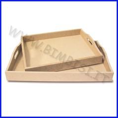 Supporti in mdf: vassoio rettangolare cm 35x50x7h fino ad esaurimento