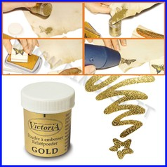 Polvere per embossing oro flacone 25 ml