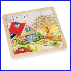 Puzzle legno le stagioni (54 pz.)