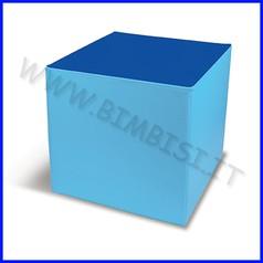Nuvola ecopelle h60 cm maxi cubo cm.60x60x60h - azzurro/blu