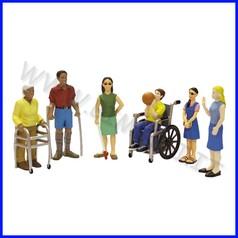 Personaggi amici del mondo - diversamen- te abili - set 6 personaggi