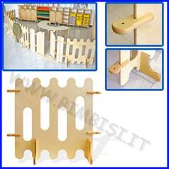 Recinto staccionata in legno elemento piccolo dim.cm 80x76h