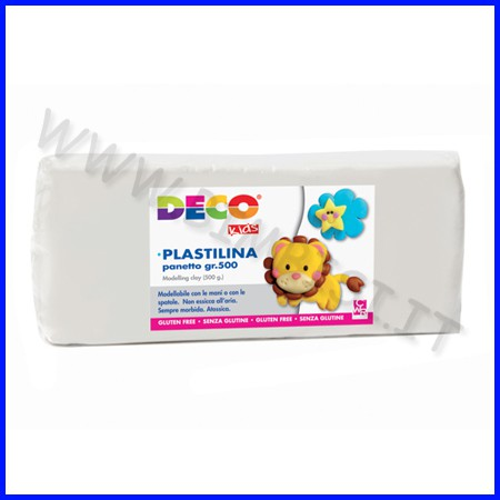 Plastilina - panetto gr.500 - bianco