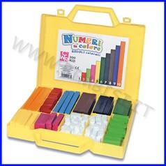 Regoli matematici/numeri in colore valigetta 200 pz