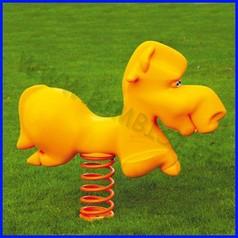 Gioco a molla cavallo giallo polietilene