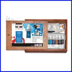 Cassetta legno cm.28x20 - 12 tubi ml.12 - olio