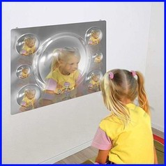 Specchio multieffetto cm.30x40 - set 4 pz.