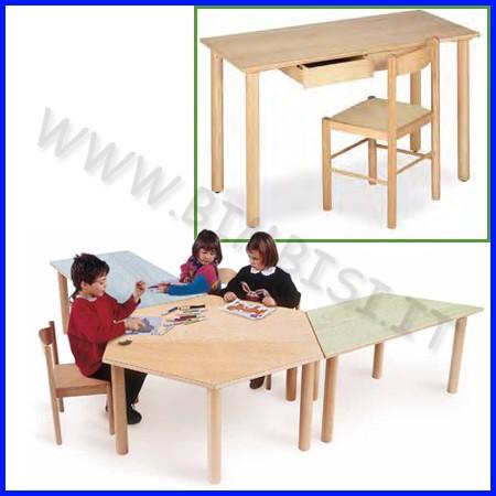 Tavolo rettangolare insegnante+2cassetti dim.cm 130x65x76h