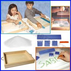 Sabbia per manipolazione set zanzibar completo vassoio+spatole+sabbia