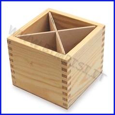 Supporti in legno: portamatite cm.10x10x8,5h