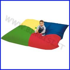 Cuscinone grande pouf colorato cm 180x180x40