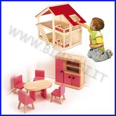 Casa delle bambole - sala da pranzo 8 pz