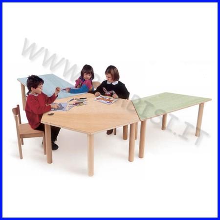 Tavolo esagonale media/adulti 130x112x71