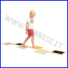 Tavole tattili cm.35,5x30,5x2 - set pz.6