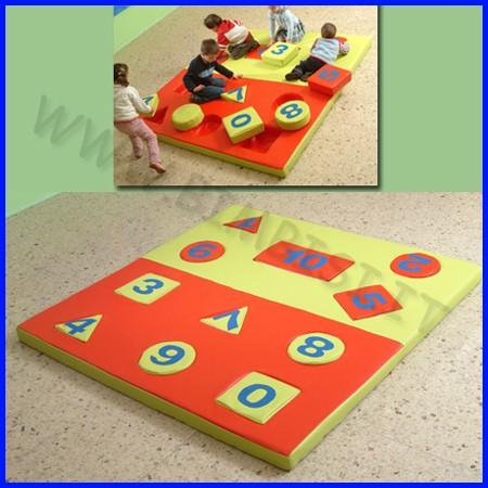 Morbidone gioco tappeto numerato 200x200x10 cm