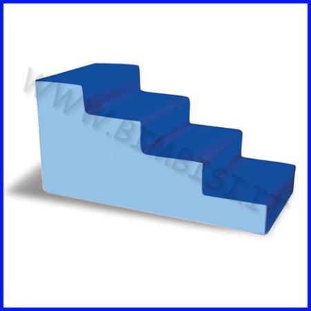 Nuvola ecopelle h60 cm maxi scala cm.120x60x60h azzurro/blu