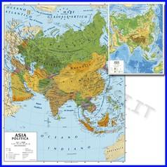 Carta geografica cm.100x140 - asia bifacciale da parete