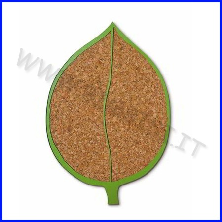 Sottopentola legno/sughero cm.23-foglia