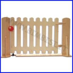 Staccionata in betulla naturale cancello con serratura dim. cm 95x75h