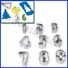 Stampini acciaio set 9 numeri