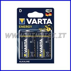 Pila energy alcaline mezza torcia - blister 2 pz.